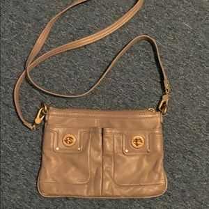Grey/Brown Marc by Marc Jacobs Leather Crossbody